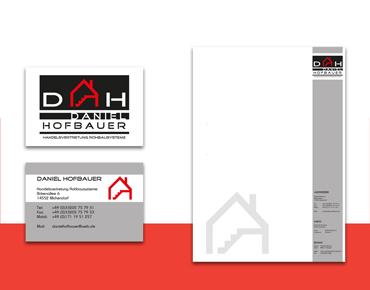 Visitenkarte und Briefpapier für Daniel Hofbauer